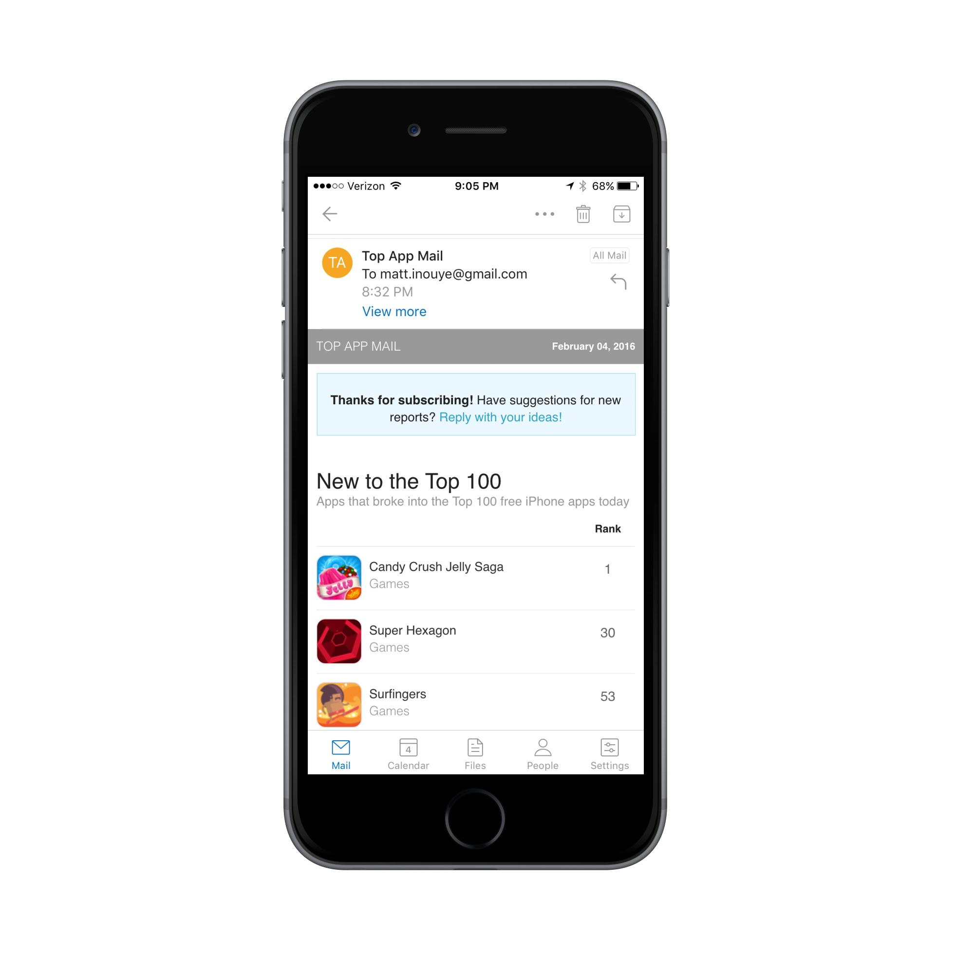 Top App Mail - A daily email of trending iOS apps